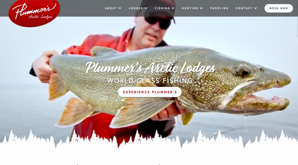 Plummer's Arctic Lodges website screenshot